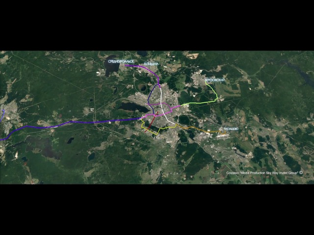 Визуализация трасс Sky Way в Екатеринбурге.