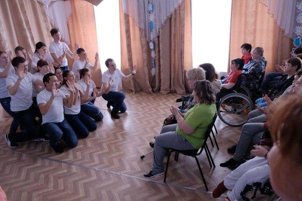 Волонтеры отряда «Сердце Сибири» побывали в психоневрологическом отделении дома-интерната для престарелых и инвалидов «Лидер»