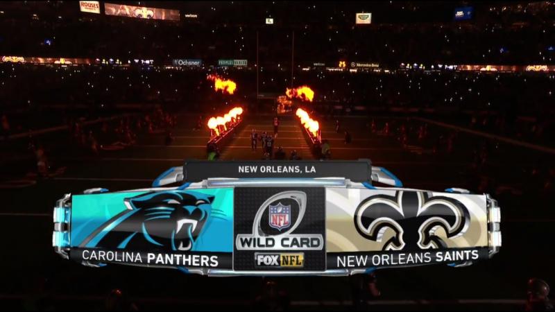 NFL 2017-2018 / NFC Wild Card / Carolina Panthers - New Orleans Saints / 07.01.2018 / EN