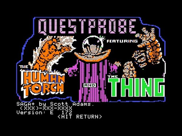 Questprobe: The Human Torch and The Thing walkthrough (Apple II - Adventure International)