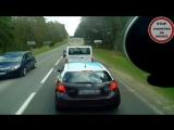 Мгновенная карма на дороге в Польше