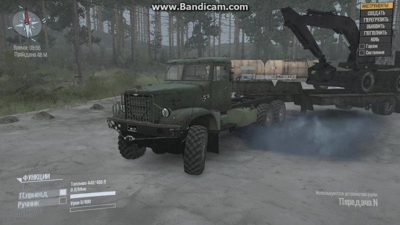 Обновил звуки для ЯАЗ-214 В Spin Tires Mudrunner.