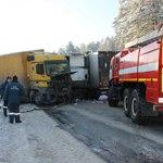 На М-5 Урал в Челябинской области восстановлено движение после столкновения семи грузовиков