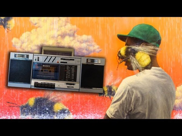 Tyler the Creator Boredom but its Played on a 1988 Sony Boombox on a Rainy Day