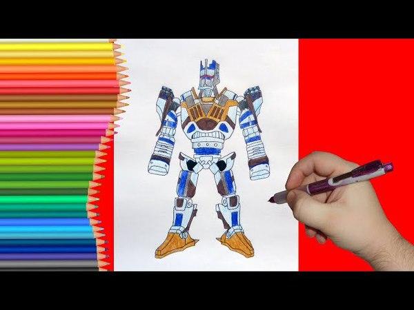 How to draw robot Camelot, Real Steel, Как нарисовать робота Камелот, Живая Сталь