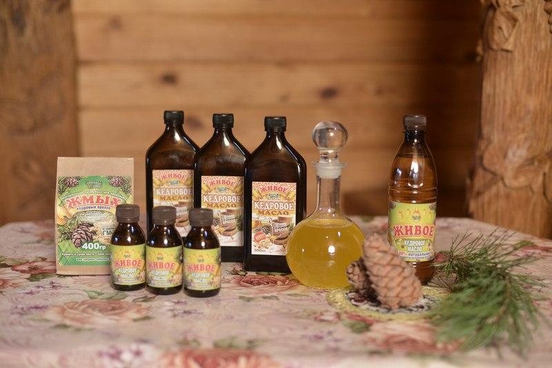 Живое кедровое масло и жмых от производителя