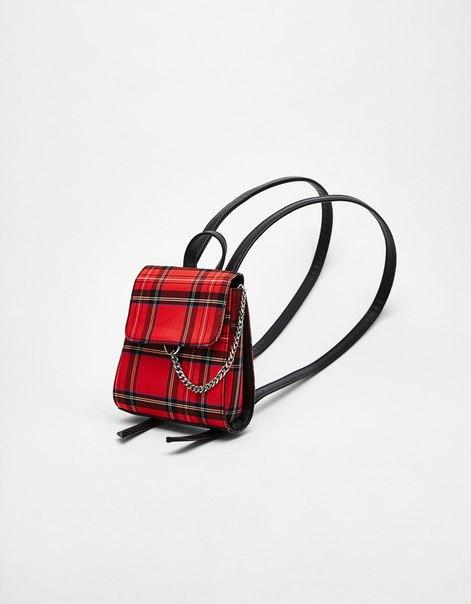 Мини-рюкзак в шотландскую клетку