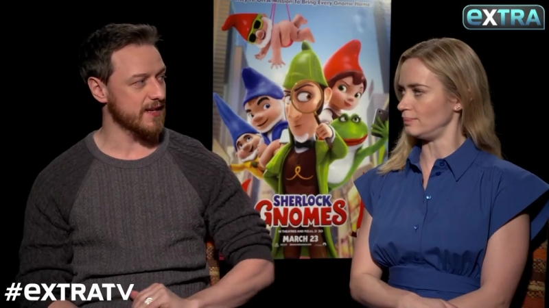LOL! Watch James McAvoy Emily Blunt's 'Extra' Interview Go Off the Rails