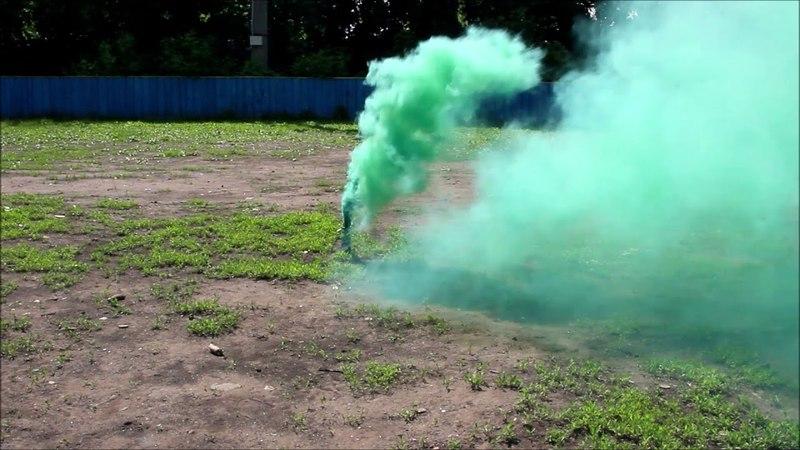 Цветной дым Smoking Fountain зеленый (Арт.МА0509)