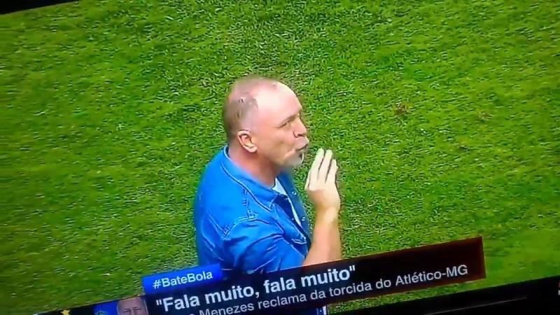 Mano Menezes mandando a torcida do Atlético chupar o pau dele e a ESPN achando que ele imi