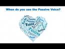 When do you use passive voice