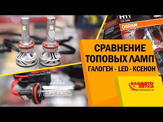 Что лучше Ксенон / LED / Галоген? Сравнение топовых ламп. Замер яркости.