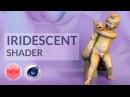 How to create Iridescent effect in Redshift renderer [CINEMA 4D TUTORIAL]