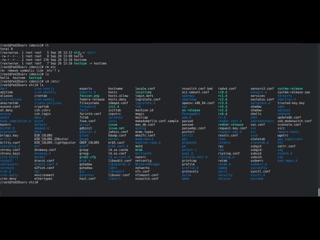 LFCS   Управление жесткими и символическими ссылками   Fedora 26