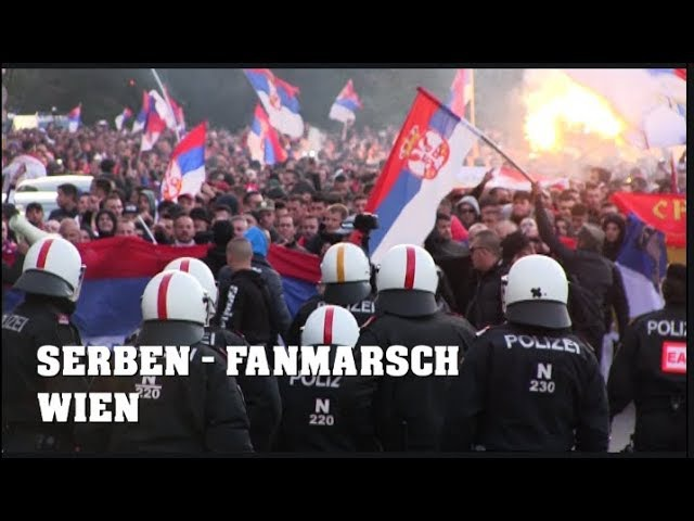 20.000 Serbia Fans in VIENNA   Srpski navijaci u BECU   06.10.2017 WM-Quali ÖSTERREICH vs. SERBIEN