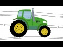 СВЕТОФОР - Раскраска - Развивающая песня мультик для детей про машинки трактор и ...