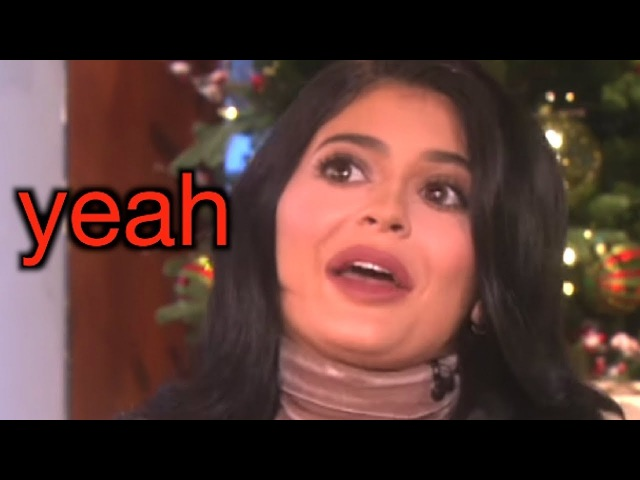 Kylie jenner saying 'yeah i feel like' to ellen for 1 minute straight