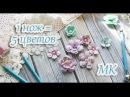 5 разных цветов при помощи одного ножа / Мастер класс / How to create paper flowers   eng sub