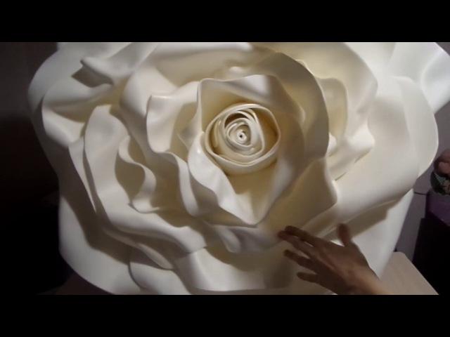 ОГРОМНЫЕ розы из изолона | Часть 3 / Free Standing Giant Flowers | Rose from Izolon | Part 3