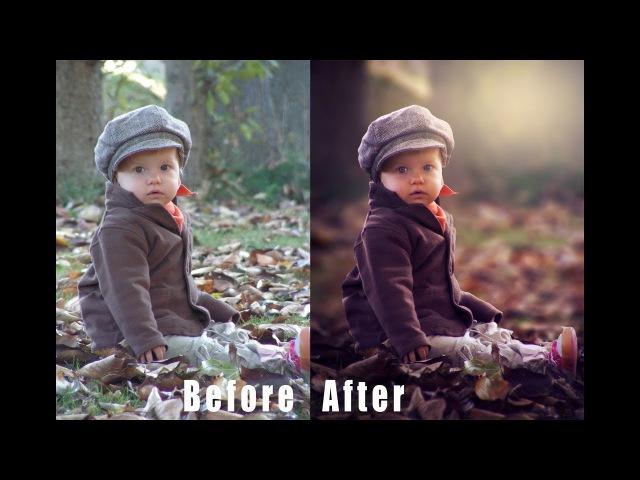 Photoshop Tutorial How to Edit Outdoor Portrait Child in Photoshop Cs6 CC