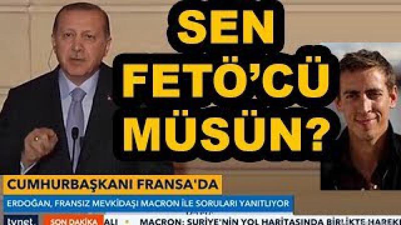 Cumhurbaşkanı Erdoğandan gazeteciye sert cevap FETÖ ağzıyla konuşuyorsun