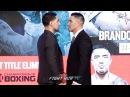 DANNY GARCIA VS. BRANDON RIOS - FULL FACE OFF VIDEO - SHOWTIME BOXING UPFRONTS - NEW YORK