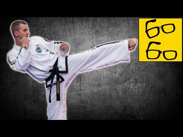 Техника удара ногой в сторону (юп-чаги) — боковой удар ногой в тхэквондо с Антоном Шаманиным