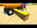 Мультфильм про машинки - аварии спуск с обрыва белаз комбаин трактор мультфильм