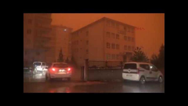 Mardin ve Diyarbakırda gündüz vakti gece gibi oldu