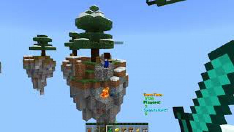 SkyWars на Minecraft Windows 10 Edition. Сервер SkyWars-BrokenLens