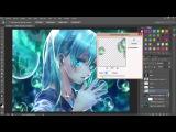 Как сделать аниме аватарку ;Ediciones Anime ; Photoshop CS6 【 4 wallpapers】SpeedArt.