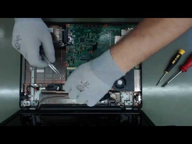 Toshiba A300 / L300 zawiesza się, nie działa, czarny ekran. Naprawa - wymiana NEC/TOKIN 0E907.