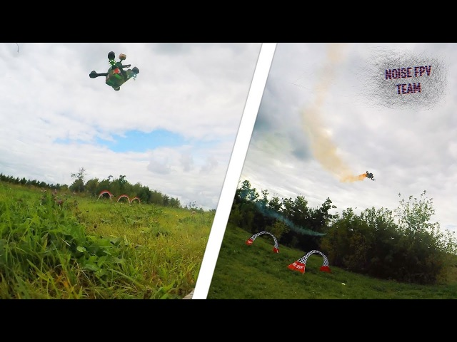 Drone racing smoke show | Moscow 870-th anniversary