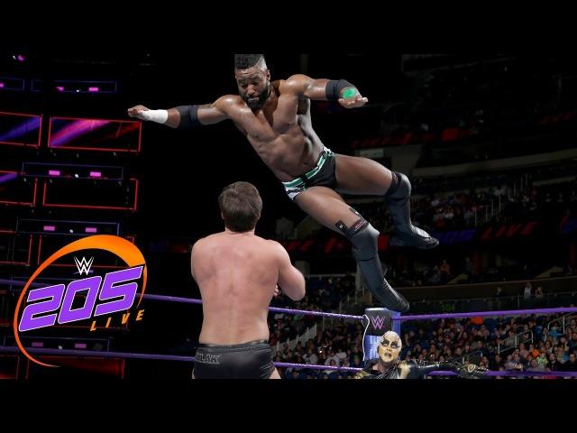 Cedric Alexander Goldust vs Drew Gulak Ariya Daivari WWE 205 Live Jan 2 2018