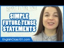 Simple Future Tense - WILL / GOING TO / BE ING - Learn English Grammar