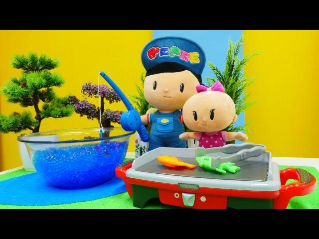 Dr.McStuffin oyunları!Pepee ve Bebe ÇIĞ balıktan ZEHİRLENIYORLAR.oyuncakvideolar