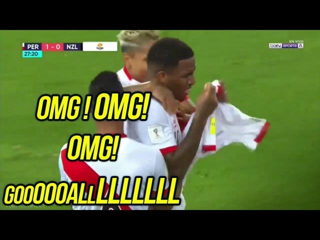 (Relato Ingles Emocionante) Perú 2-0 Nueva Zelanda - Mundial Rusia 2018 - Repechaje 15112017 (HD)