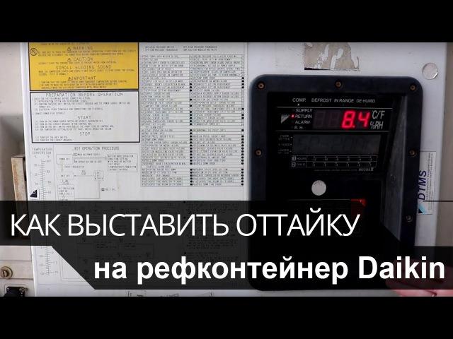 Как выставить оттайку на рефконтейнер Daikin (Дайкин)
