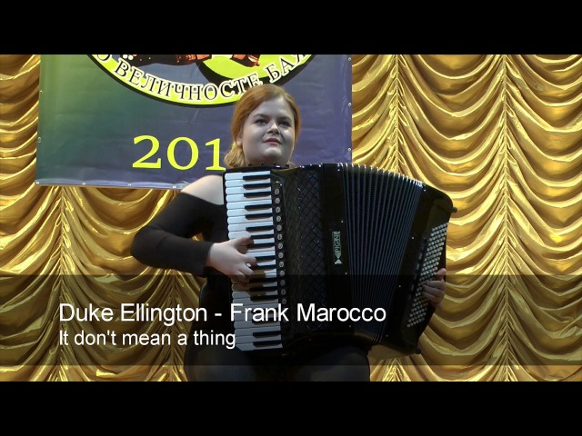Ellington Marocco It don't mean a thing JAZZ ACCORDION Egle Bartkeviciute Accordeon Akkordeon