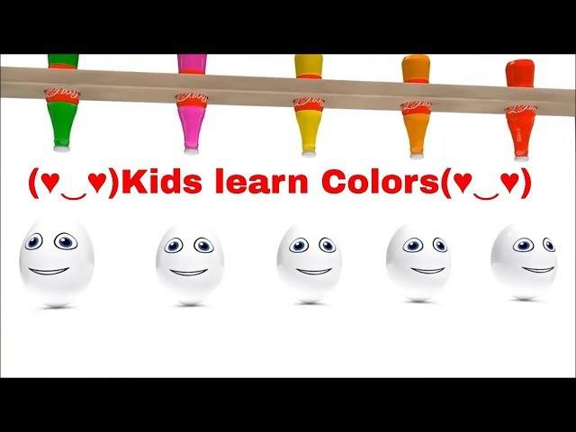 ❥❥❥Learn Colors with Surprise Eggs Cartoon Kids Video Elephant Animel Water Pipe Nursey Rhymes❤❤❤