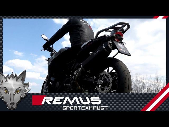 BMW F 800 R Mod. 2017 (Euro 4) with REMUS Black Hawk slip-on system
