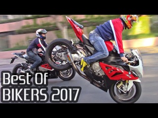 BEST OF BIKERS 2017 - Superbikes on the Streets Wheelies, Burnouts RL & LOUD exhausts!