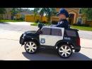 Крутая Полицейская Машина! Распаковка и Сборка Электромобиль. Видео для Детей п ...
