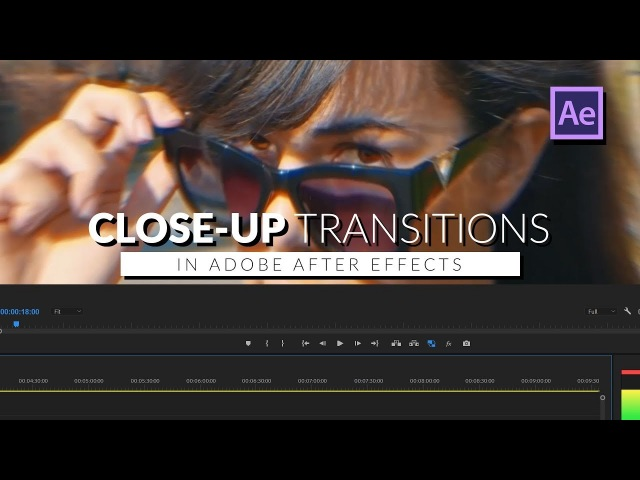 Epic Close up Zoom Transition in Adobe After Effects Tutorial
