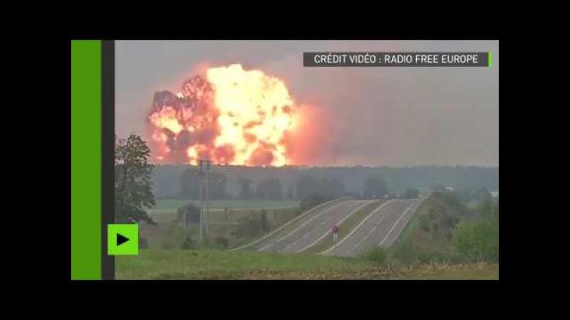 Ukraine lincendie dun dépôt de munitions force 30 000 personnes à évacuer