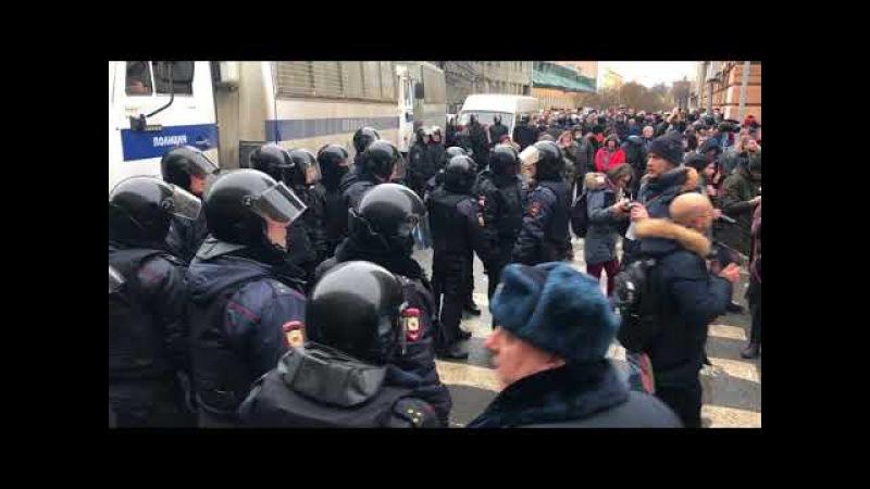 Митинг 28.01.18 Санк-Петербург