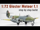 172 Gloster Meteor F.1 Step by Step Model Aircraft Build