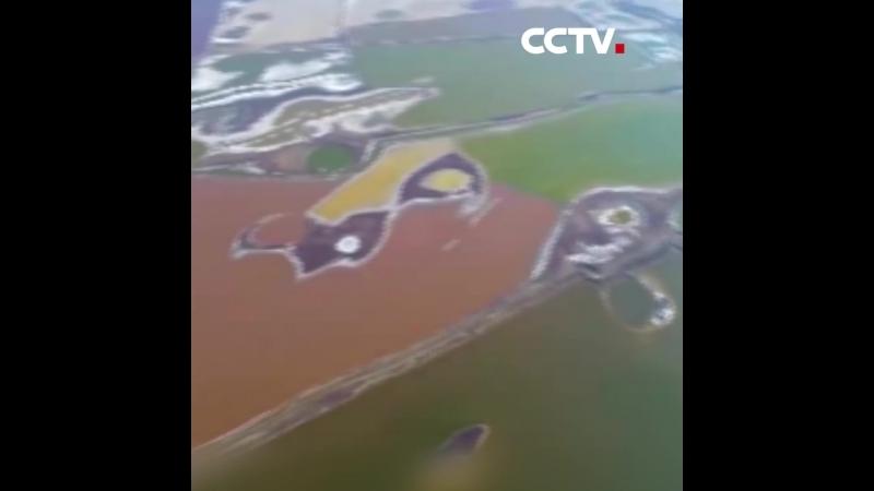 цветные соляные озера в городском округе Юньчэн