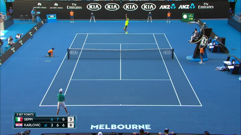 Andreas Seppi - Ivo Karlovic match highlights Australian Open 2018