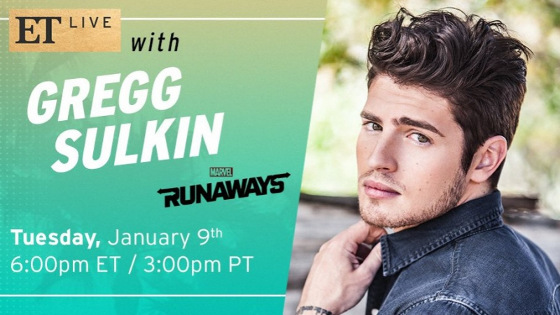 Entertainment Tonight Gregg Sulkin is here to chat with us about the season finale of Marvel's Runaways 09 01